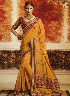 Embroidered Work Designer Traditional Saree
