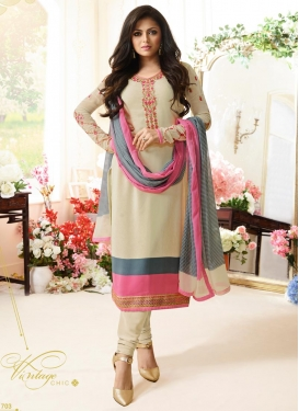 Embroidered Work Drashti Dhami Pakistani Straight Salwar Kameez
