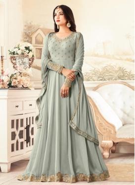 Embroidered Work Faux Georgette Floor Length Anarkali Salwar Suit