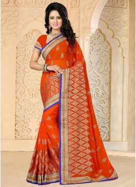 Embroidered Work Faux Georgette Traditional Saree