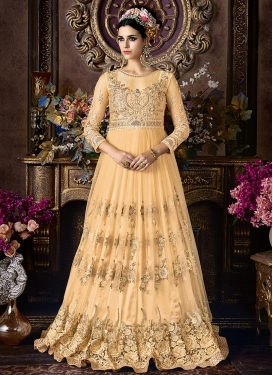 Embroidered Work Floor Lenght Suit