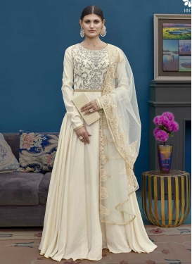 Embroidered Work Floor Length Anarkali Salwar Suit