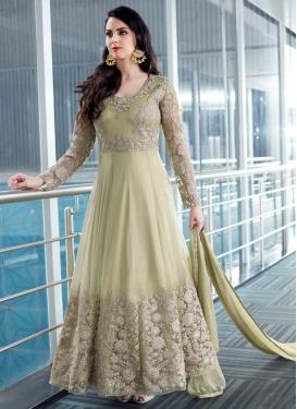 Embroidered Work Floor Length Kalidar Salwar Suit