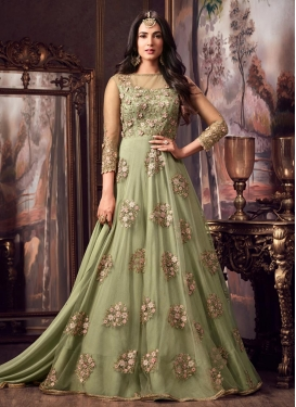 Embroidered Work Floor Length Trendy Salwar Suit