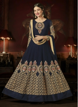 Embroidered Work Gauhar Khan Anarkali Salwar Kameez