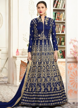 Embroidered Work Gauhar Khan Floor Length Anarkali Salwar Suit