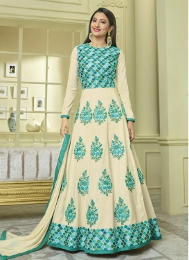 Embroidered Work Gauhar Khan Long Length Anarkali Salwar Suit