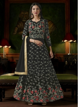Embroidered Work Gauhar Khan Trendy Anarkali Salwar Suit