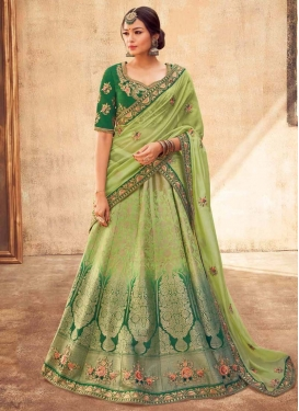 Embroidered Work Green and Mint Green Lehenga Choli