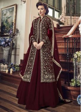 Embroidered Work Jacket Style Salwar Kameez
