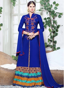 Embroidered Work  Kameez Style Lehenga