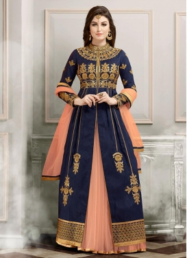 Embroidered Work Kameez Style Lehenga Choli