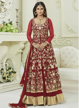 Embroidered Work Krystle Dsouza Desinger Anarkali Suit