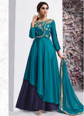 Embroidered Work Layered Designer Salwar Kameez