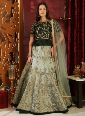 Embroidered Work Long Choli Lehenga