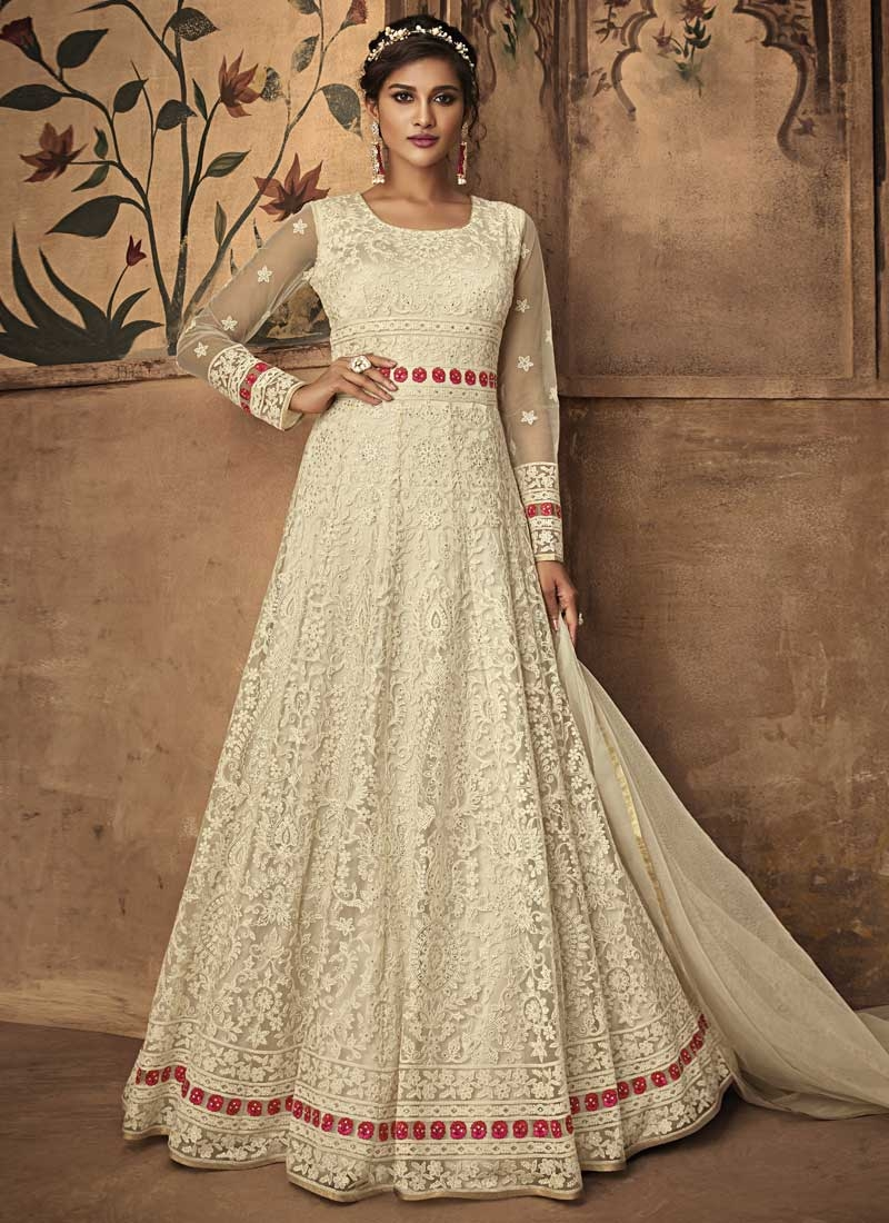 Embroidered Work Long Length Anarkali Salwar Suit
