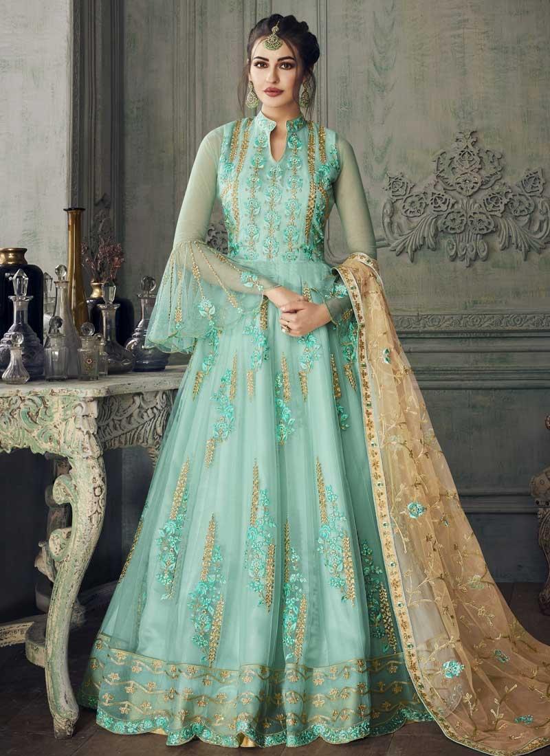 Embroidered Work Long Length Anarkali Salwar Suit For Party
