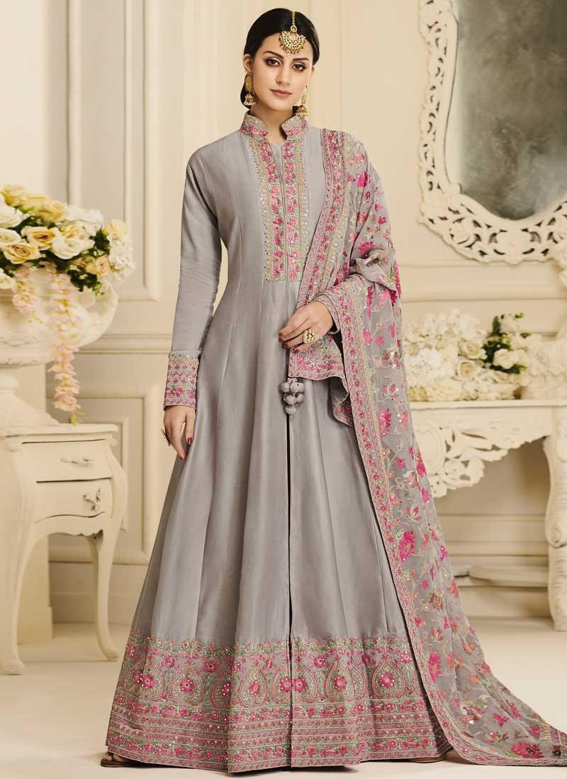 Embroidered Work Long Length Designer Suit