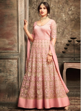 Embroidered Work Long Length Salwar Suit