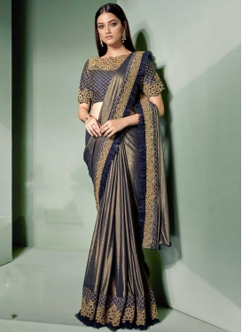 Embroidered Work Lycra Classic Saree