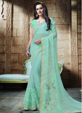 Embroidered Work Lycra Contemporary Style Saree