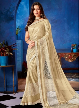 Embroidered Work Lycra Designer Traditional Saree For Ceremonial