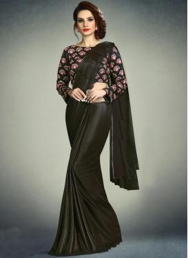 Embroidered Work Lycra Traditional Designer Saree