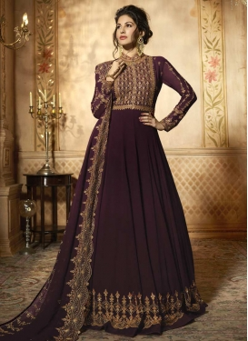 Embroidered Work Nargis Fakhri Trendy Anarkali Salwar Kameez