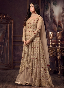 Embroidered Work Net Asymmetrical Designer Salwar Suit