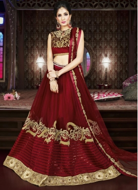 Embroidered Work Net Designer Lehenga Choli