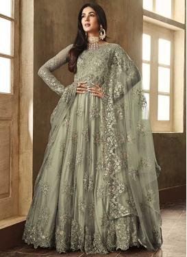 Embroidered Work Net Floor Length Anarkali Salwar Suit
