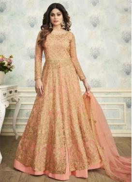Shamita Shetty Kameez Style Lehenga