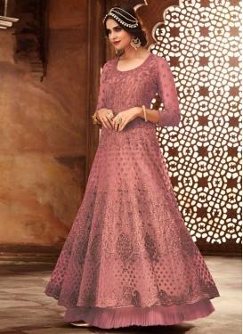Embroidered Work Net Layered Designer Salwar Suit