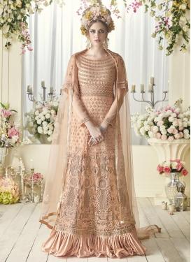 Embroidered Work Net Long Length Designer Suit