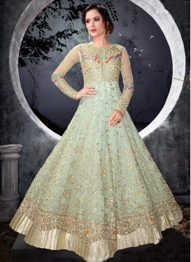 Embroidered Work Net Trendy Anarkali Salwar Kameez