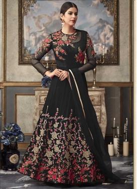 Embroidered Work Net Trendy Anarkali Salwar Suit