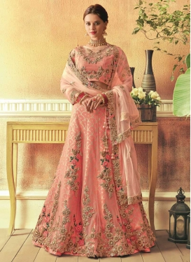 Embroidered Work Net Trendy Lehenga