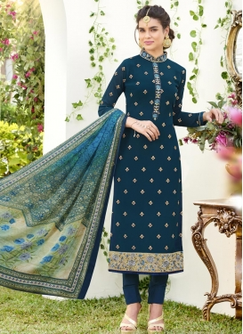 Embroidered Work Pakistani Salwar Suit