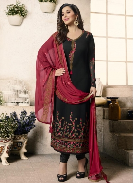 Embroidered Work Pakistani Straight Salwar Suit