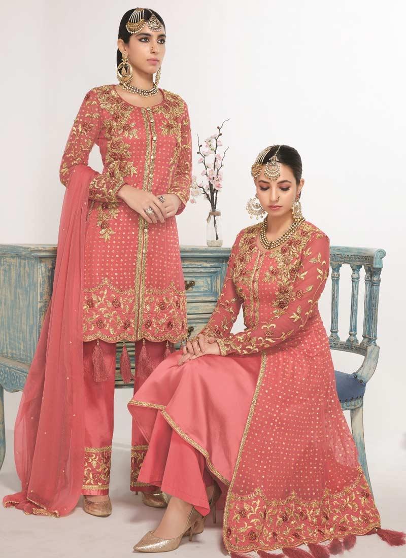 Embroidered Work Pant Style Designer Salwar Suit