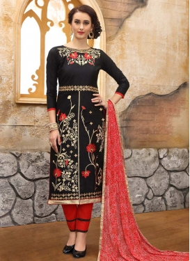 Embroidered Work Pant Style Salwar Kameez