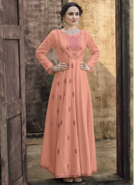 Embroidered Work Pasmina Readymade Designer Gown