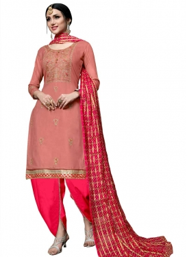 Embroidered Work Punjabi Salwar Suit