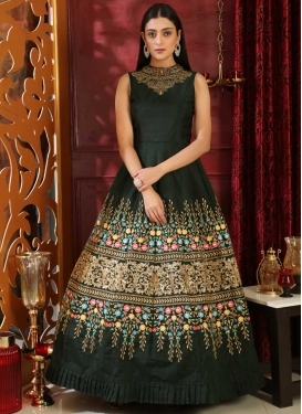 Embroidered Work Readymade Trendy Gown
