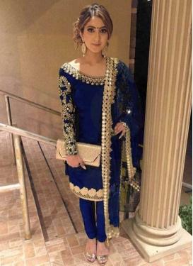 Embroidered Work Satin Silk Trendy Designer Salwar Suit