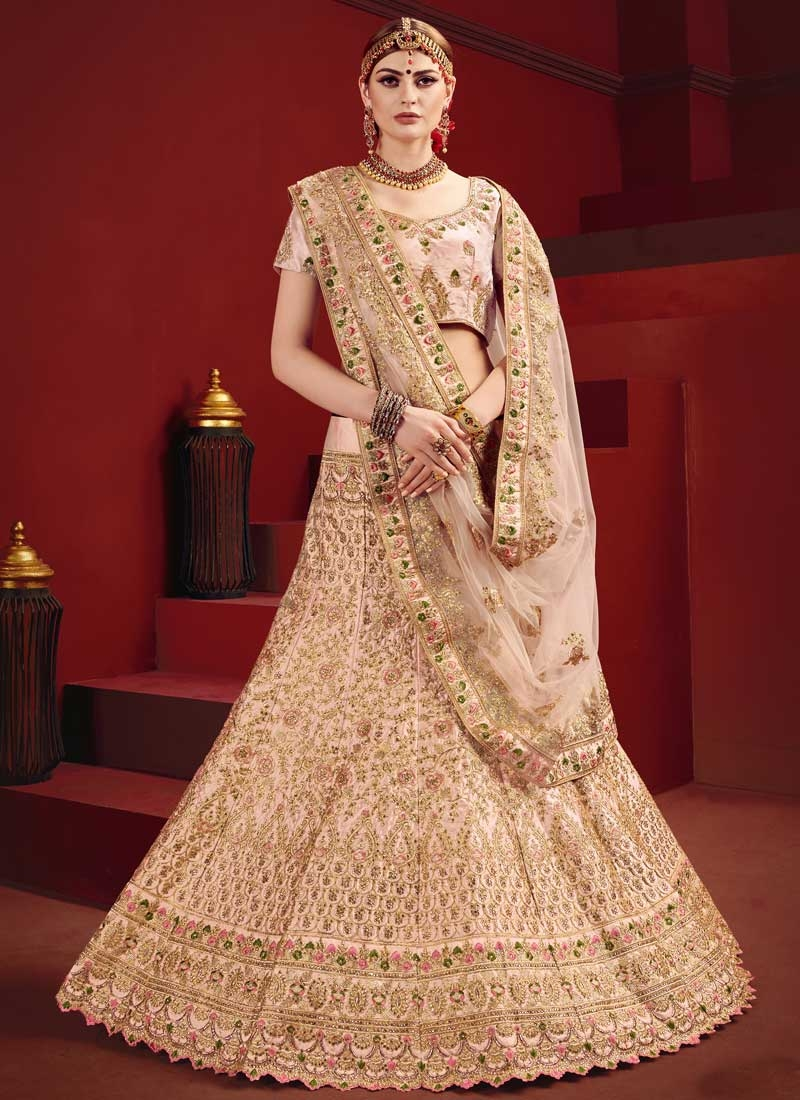 Embroidered Work Satin Trendy Lehenga Choli