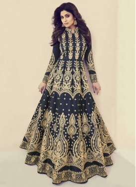 Embroidered Work Shamita Shetty Floor Length Anarkali Salwar Suit