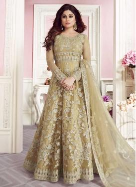 Embroidered Work Shamita Shetty Floor Length Anarkali Salwar Suit