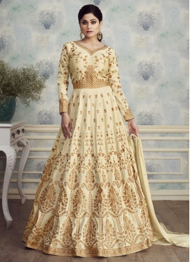 Embroidered Work Shamita Shetty Trendy Anarkali Salwar Kameez
