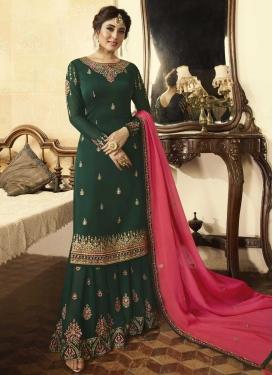 Embroidered Work Sharara Salwar Kameez For Ceremonial